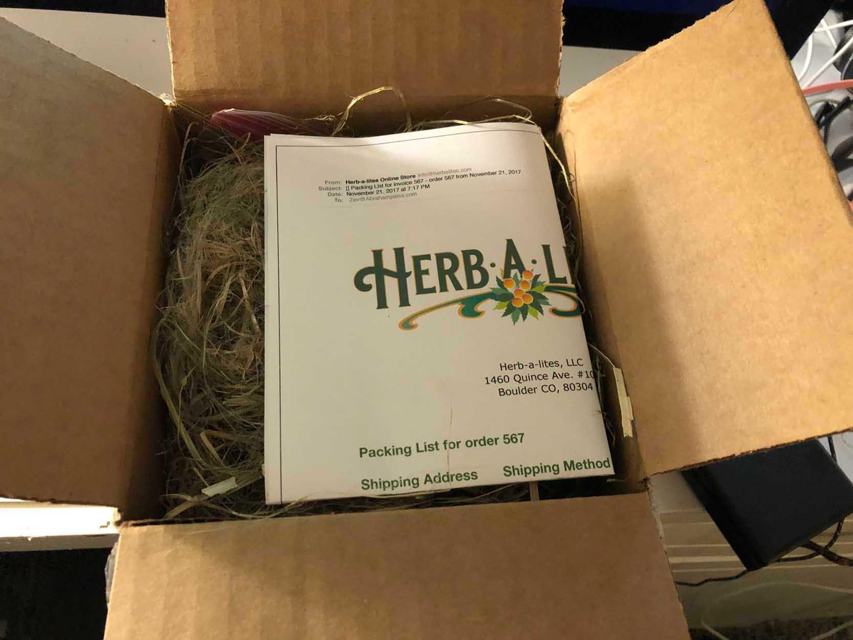 Herbalites hemp package