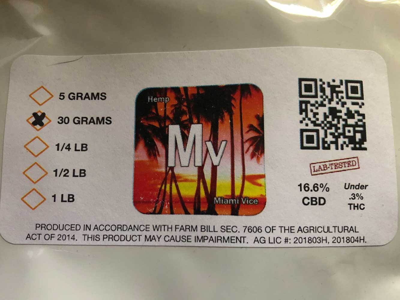 Review of Miami Vice from CBD Hemp Direct - mjgeeks