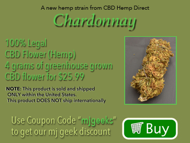 Chardonnay CBD flower from CBD Hemp Direct