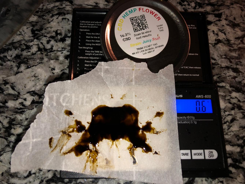 Hemp hash oil 12